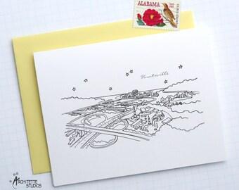 Huntsville, Alabama - United States - City Skyline Series - Folded Cards (6)