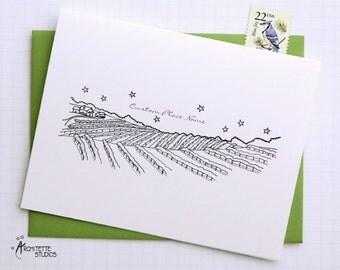 Generic Vineyard - City Skyline Series - Folded Cards (6)