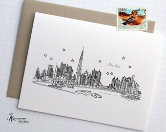 Dubai - Asia/Pacific - City Skyline Series - Folded Cards (6)