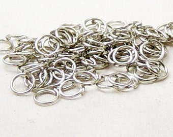 Jump Ring 100 Silver Nickel Unsoldered Closed 6mm 21 gauge NF (1015jum06s1)