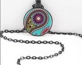 Hindu Paisley Necklace, Hindu Paisley Pendant, Gothic Paisley WIccan Pagan Bohemian Gypsy Jewelry PAS23