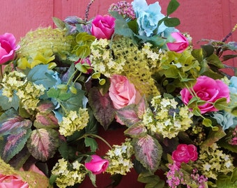 Spring Wreath...Floral Wreath...Door Wreath...Bedroom Wreath...Front Door Wreath...Hydrangea Wreath