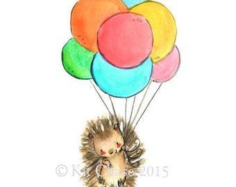 Nursery Art -- Hegde's Balloons -- Nursery Art Print