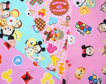 Disney  fabric scrap Disney tsum tsum  Minnie mouse  2015Dc