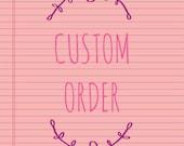 Tisha's Custom Listing