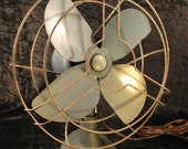 Vintage Kwik Kool Electric Fan - Metallic Blue 1940s
