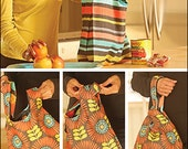 Take-to-Market Bag Digital Sewing Pattern PDF - two different market bags to go green while grocery shopping