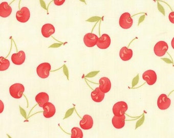 Clearance FABRIC FARMHOUSE Fall Time Cottage Cherries Cherry by Moda