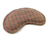 Eye Pillow Comfort Pack, Warm Cold Pad, unscented, lavender or chamomile, flax rice - tan check