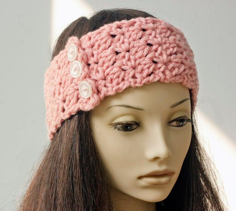 Three Headband Crochet Pattern Beginner Crochet by beadedwire