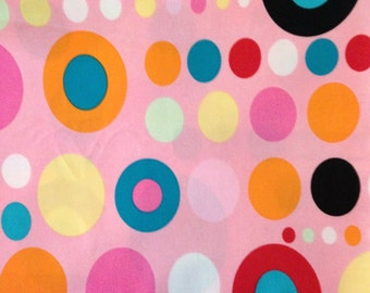 Alexander Henry pink On the Spot cotton fabric 1 yard
