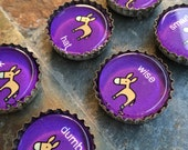 Naughty Donkey (purple) - bottlecap magnet gift set