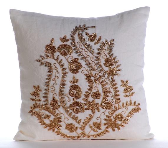 Most Expensive Throw Pillows : Luxury White Throw Pillows Cover 16x16 Cotton