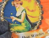 Halloween Handmade Vintage Style Ornament Halloween Tree Ornament