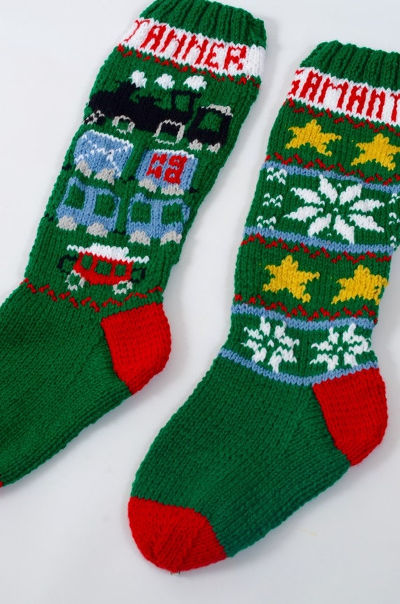 Knitted Christmas Stocking Patterns Personalized : Personalized Christmas Stockings, Personalized Stockings, Knit Christmas Stoc...