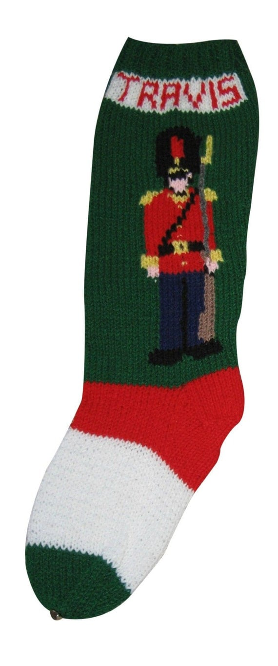Knitting Patterns Toy Soldiers : Toy Soldier Stocking Christmas Stocking Christmas Stocking