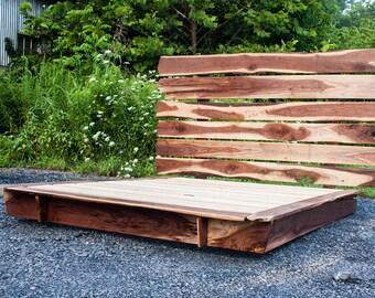 The Natalie - Live Edge Walnut Platform Bed