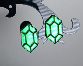 Gem Laser Cut Mirror Acrylic Earrings