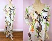 1970s Vanity Fair Loungewear Gown S/M