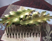 Leaf Hair Comb Woodland Wedding Vintage Hair combs Bridal Hair Accessories Decorative Combs Oak Leaf Hair comb