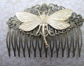 Dragonfly Hair Comb Woodland Wedding Vintage Hair combs Bridal Hair Accessories Decorative Combs Dragonfly Hair comb