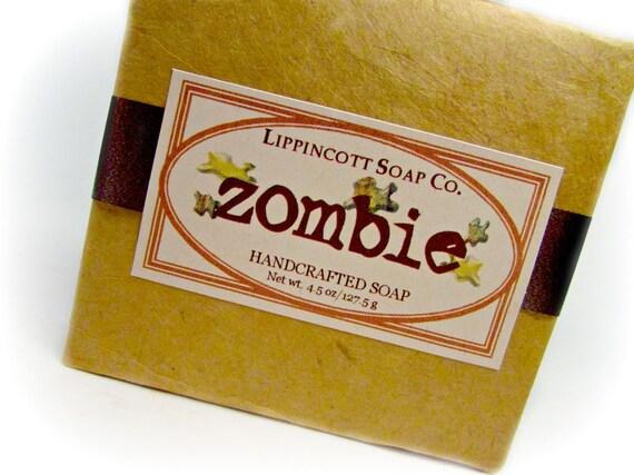 Zombie Soap, Cold Process Soap, Handmade Soap Bar, Teen Soap, Bar Soap, Novelty Gift, Gag Gift, Teen Gift, Gift for Him, Stocking Stuffer