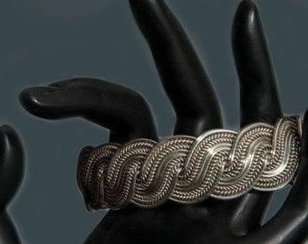 Twisted Silver Vintage Bracelet
