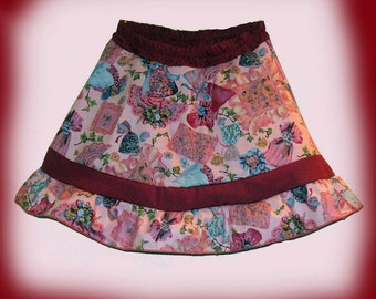 clothing, girl's skirt with shorts, size 2/3 skirt,  girl's twirly skirt, girl's skirt, skort, girl's skort, skirt and shorts