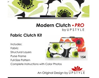 Modern Clutch - PRO Fabric Clutch Kit - Includes Pattern Frame Fabric and MORE