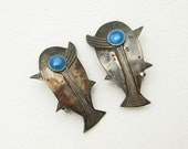 Vintage Sterling Fish Earrings Graziella Laffi Jewelry E6800