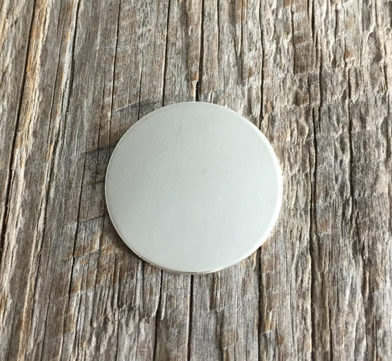 4 pack 3/4 inch 22 Gauge Sterling Silver Round Circle Discs Jewelry Stamping Supplies