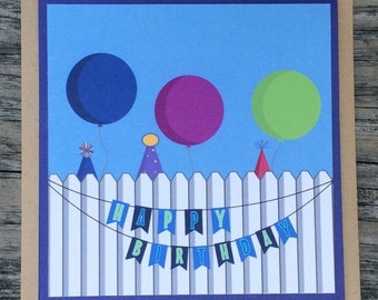 Happy Birthday Card.  Birthday Party, Birthday Wishes, Off to the Party they go!