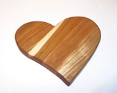 Mini Heart Cutting Board Handcrafted from Mixed Hardwoods