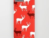 Reindeers on your phone case -  iPhone 6S, iPhone 6 Plus, iPhone 5S, iPhone 5c, reindeers, reindeers gifts, Gifts for her, Samsung Galaxy S6