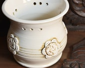 Orchid Pot, Vase, White, Ivory, Planter, Flower Pot, Utensil Holder