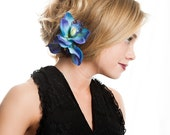 Mira Mermaid Colored Double Orchid Hair Clip