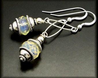 DOYLIGHT ~ Yellow  Quartz,  Sterling Silver Earrings