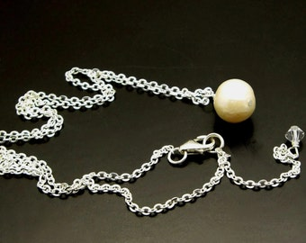 SUNDAY'S CHILD ~ Delicate Freshwater Pearl , Sterling Silver Necklace Set