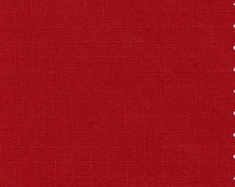 60 Inch Wide Cotton Ripstop Fabric RED By The Yard