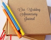 First Wedding Anniversary Gift * Personalized Anniversary Journal * Wedding Anniversary Journal * Paper Anniversary Gift * 6 x 6""