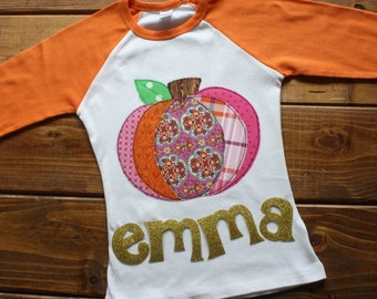 Pumpkin Shirt, Halloween Shirt, Pumpkin Shirt for Girls, Fall Festival, Personalized Halloween Shirt, Thanksgiving Shirt, Made to Order