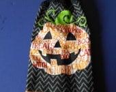 Halloween Pumpkin Double Hanging Crocheted Kitchen Towel