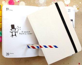 2016, pocket calendar, journal, drawings