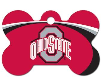 Ohio State Buckeyes Licensed Pet ID Tag