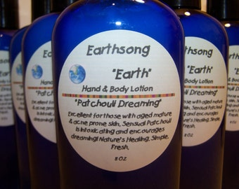 PATCHOULI Sensual Hippie Herbal Handmixed  Buttery Lotion EARTHSONG