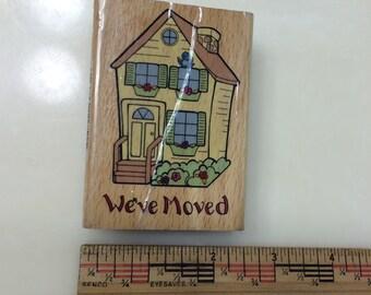 House We've Moved Rubber Stamper