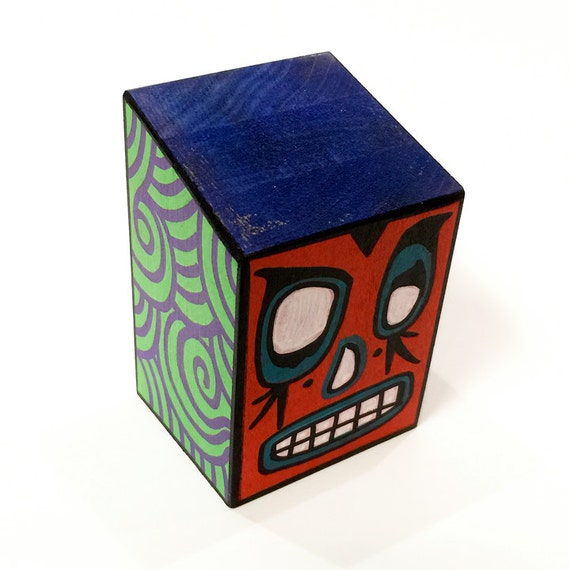 Funk Totem Part No. 324- Original Mixed Media Art Block - Vol. 12