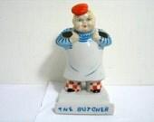 Vintage The Butcher Toothbrush Holder Porcelain Figural Toothbrush Holder MIJ Japan