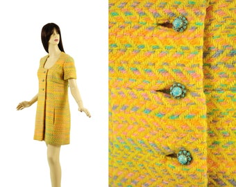 Vintage 1960s Bill Blass for Maurice Rentner Dress XS S 60s Designer Wool Dress