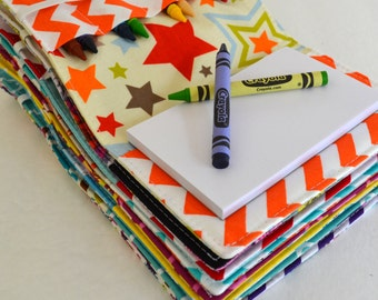 Party Favors for Kids . Crayon Wallets . Set of 35 . 8 Crayons and Notepad Included . Art Party . Wholesale